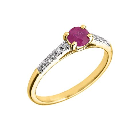 Ruby 4 4ct 0 4ct ruby and solitaire engagement ring in 9ct