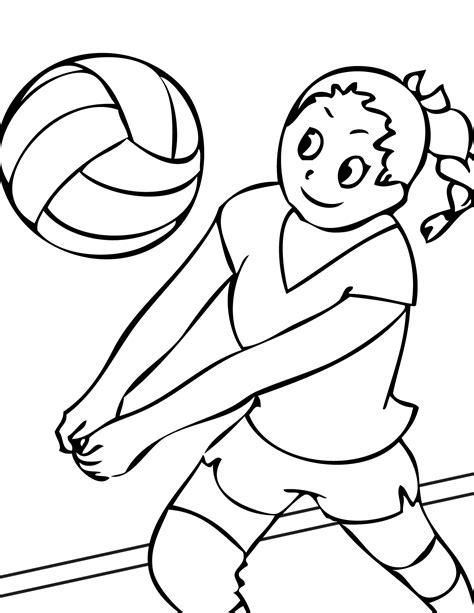 Volleyball Coloring Book Pages | free printable volleyball coloring pages for kids