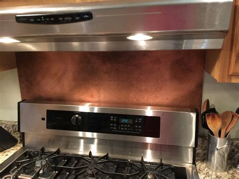 copper backsplash sheets rustic brown copper backsplash