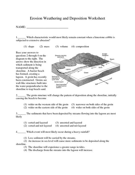 Erosion Worksheets by 28 Weathering Erosion And Deposition Worksheet Pin