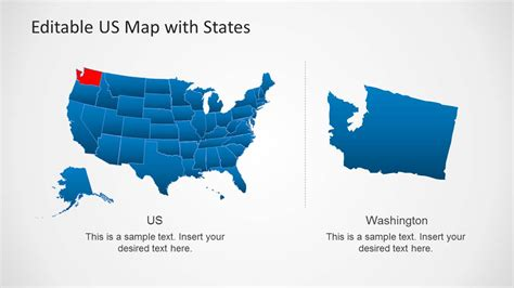 interactive map of usa for powerpoint united states of america powerpoint template united free