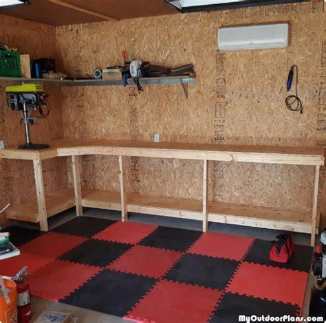 diy garage workbench myoutdoorplans  woodworking