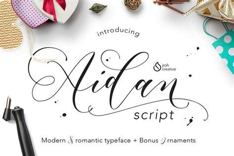 Wedding Font Tester by Aidan Script Befonts