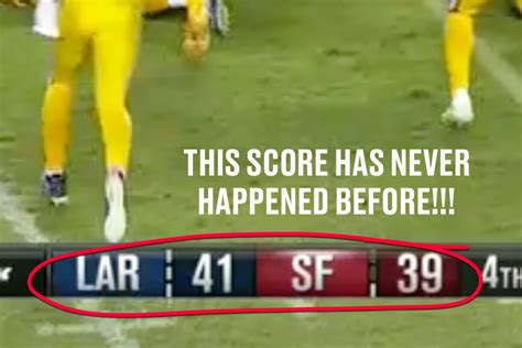 soccer highest score rams vs 49ers gave us the 1st 41 39 score in nfl history