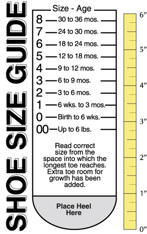 shoe size chart dsw printable shoe size guide
