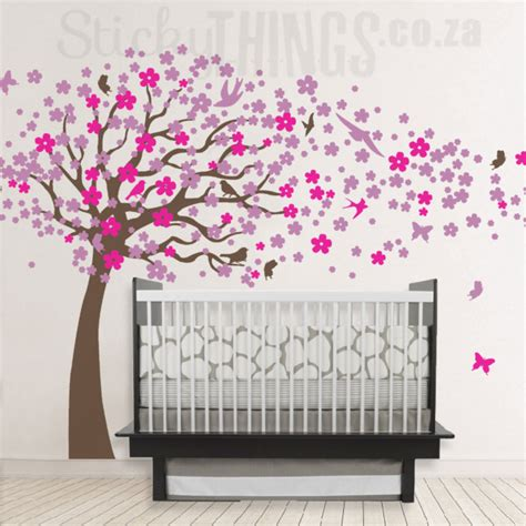 wall stickers south africa blowing cherry tree wall cherry tree wall decal stickythings co za south africa