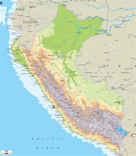 map of peru physical map of peru ezilon maps