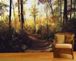 Autumn Wall Murals Gleams Of Autumn Wall Mural 12 Wide By 8 High