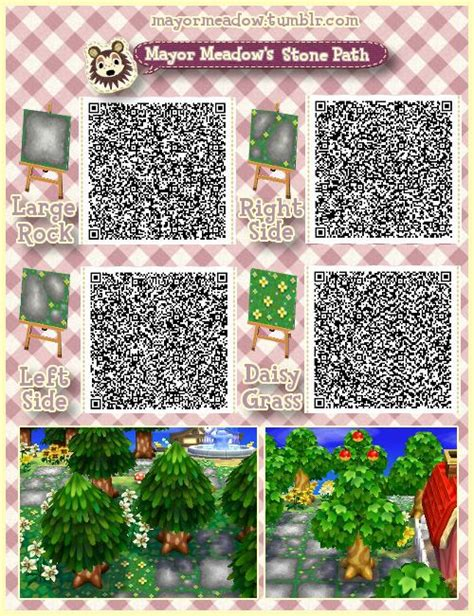 acnl flower qr codes paths mayormeadow i ve been looking everywhere for these