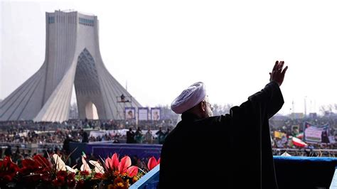 iranians vilify trump  rally celebrating  revolution