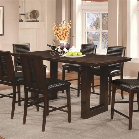 Vegas Dining Table And 2 Chairs Chester Rectangular Pedestal Counter Height Table From Coaster 105728 Coleman Furniture