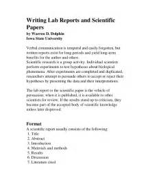 Writing A Scientific Essay by Scientific Report Writing Tips