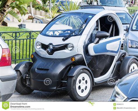 smart mini mini smart svartbil i monaco frankrike redaktionell