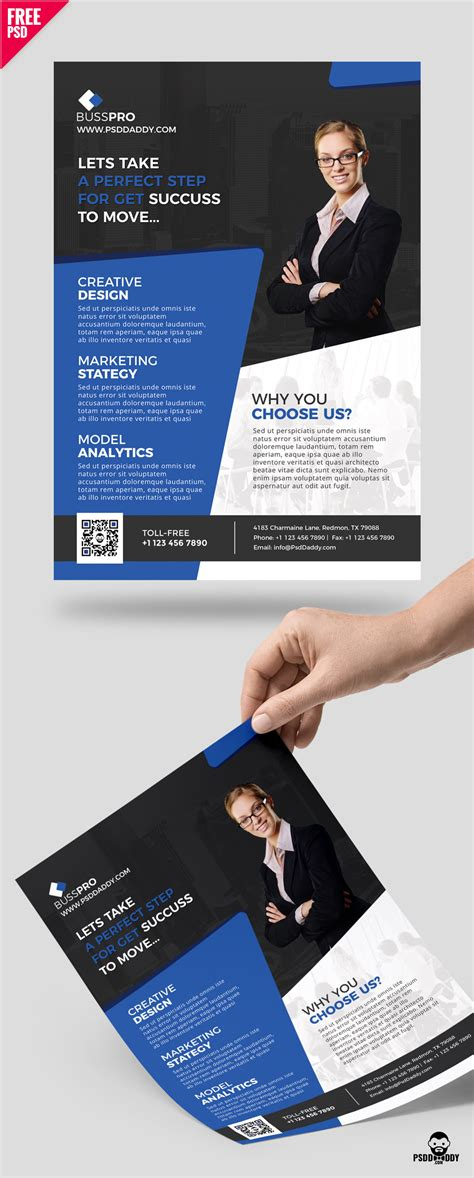 free templates for a5 flyers download business flyer template free psd psddaddy com