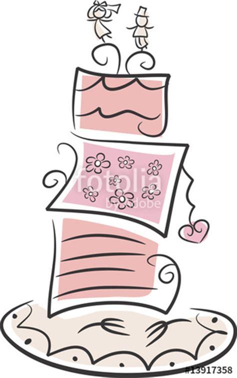 Hochzeitstorte Clipart by Quot Witzige Verspielte Hochzeitstorte Quot Stockfotos Und