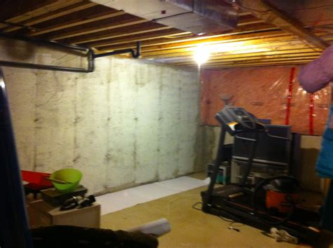 painting cement basement walls houseonashoestring unfinished basement decorating