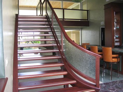 Wooden Stair Banisters And Railings Glass Stairway Railings And Deckings From Bell Mirror Amp Glass