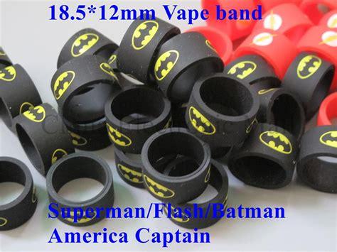 Vape Rubber Band Diameter 2cm superman silicone rubber band vape ring 22mm diameter for mechanical mods rda rba protection
