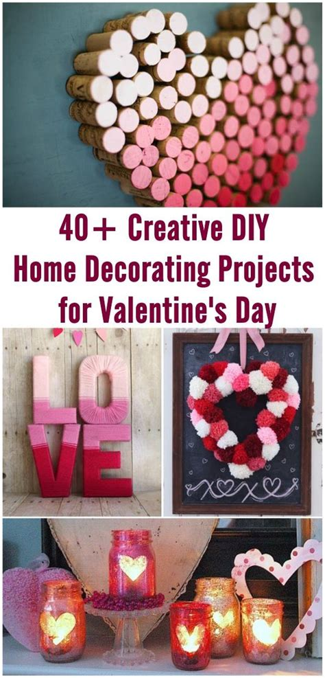 creative diy home decorating ideas 40 creative diy home decorating projects for valentine s