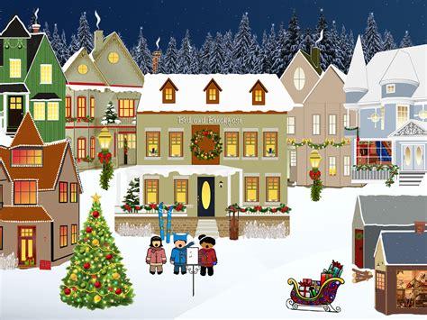 christmas homes free illustration christmas village light snow free