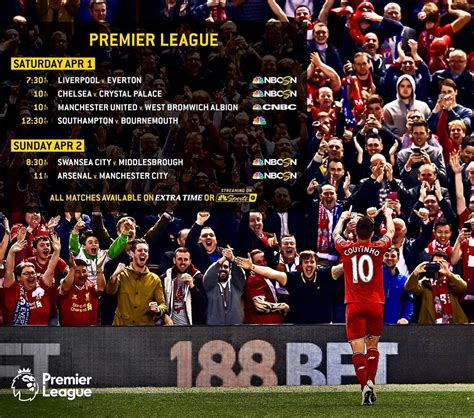epl on us tv most popular premier league clubs on us television based