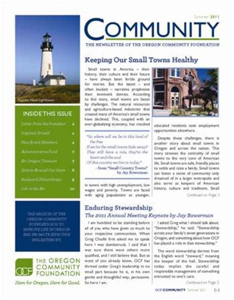 ocf community newsletter june 2011
