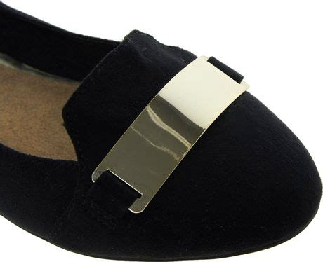 Trim Patent Flat Sandal By Asos by Asos New Look Ketal Metal Trim Slipper Flat Shoes In Black