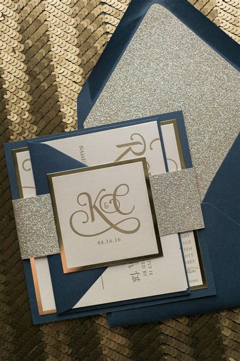 Square Wedding Invitations by Adele Suite Styled Fancy Glitter Package Square