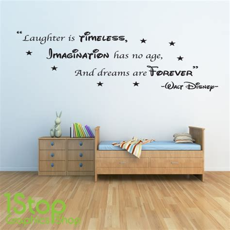 disney wall stickers walt disney wall sticker quote boys home wall