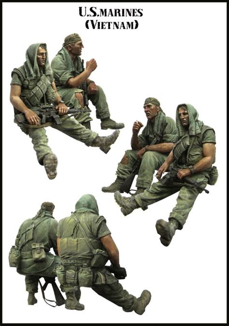 1 35 scale vietnam figures a pair of very cool usmc troopers at rest in vietnam 1 35