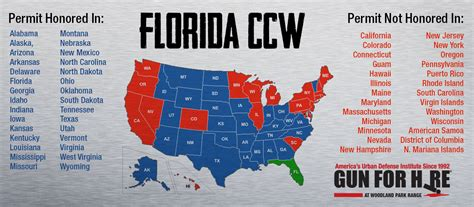 florida ccw reciprocity map florida ccw