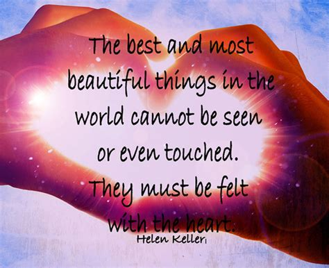the most beautiful things helen keller quotes quotesgram