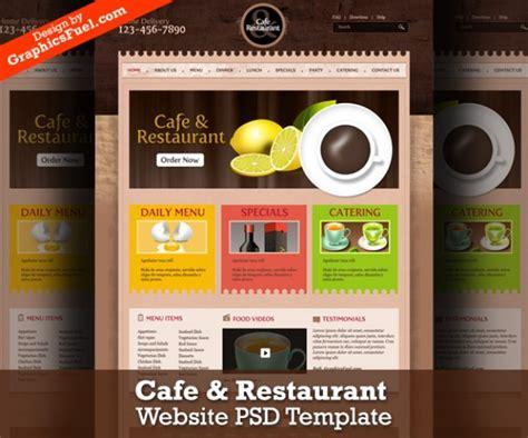 Cafe Restaurant Website Psd Template Psd File Free Cafe Website Template