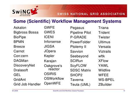 scientific workflow systems scientific and grid workflow management sgs09