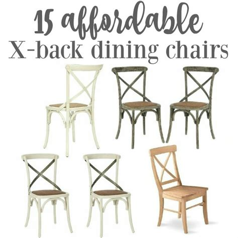 Cafe Style Dining Chairs Friday S Finds Affordable X Back Cafe Style Dining Chairs The Happy Housie