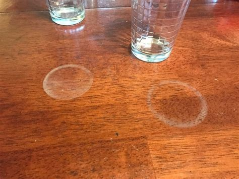white stain on wood table removing water marks from wood furniture thriftyfun