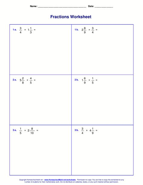multiplying fractions worksheet worksheets for fraction multiplication