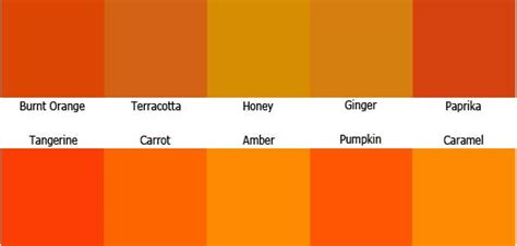 orange shades names tangerine dreams orange wedding d 233 cor ideas we colors