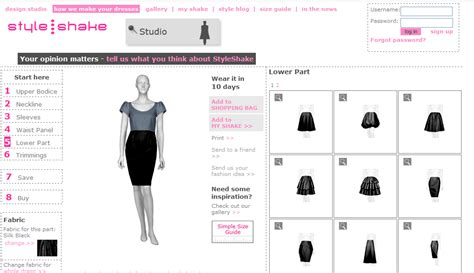 Styleshake Design Your Own Dress by Style Statement Design Your Own Clothes And Bags Hong