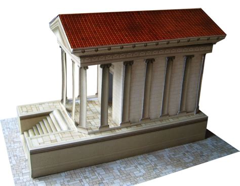 How To Make A Temple Out Of Paper - antique temple rb026 wargameprint antique