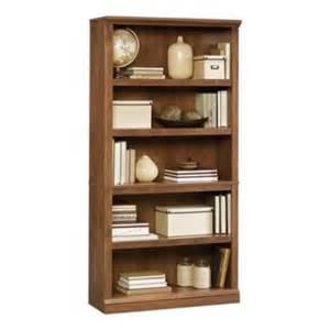 sauder five shelf bookcase sauder select five shelf bookcase in oiled oak finish