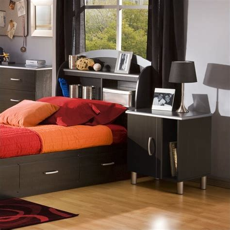 Childrens Bedroom Furniture Bookcase Cosmos Bookcase Black Headboard 2 Bedroom Set