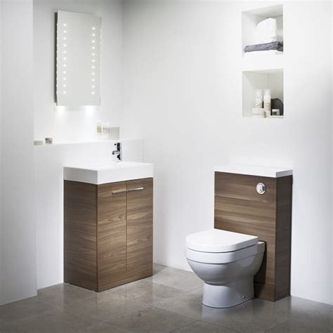 cloakroom bathroom ideas suite in walnut from tavistock cloakroom suites