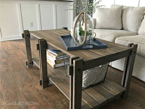 Rustic Farmhouse Coffee Table by Rustic Farmhouse Coffee Table Sawdust 2 Stitches