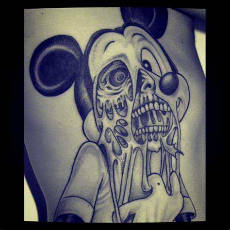 mickey mouse tribal tattoo mickey mouse on