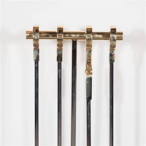 Unique Fireplace Tool Sets by Custom Four Tool Set In Polished Nickel And
