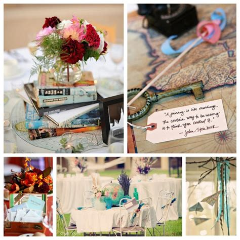 travel themed table decorations deco de mariage theme voyage mariageoriginal