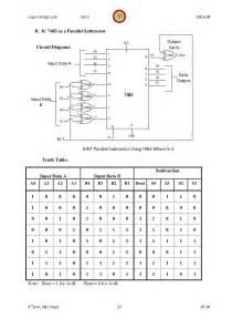 Input Output Table 343logic Design Lab Manual 10 Esl38 3rd Sem 2011