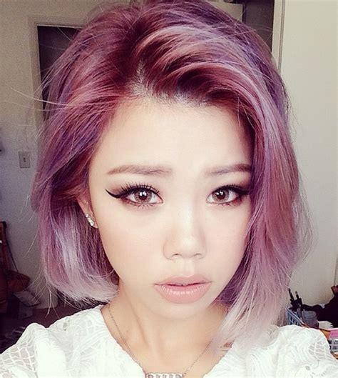 pastel colored hair pastel bob on hair bob pastel hair