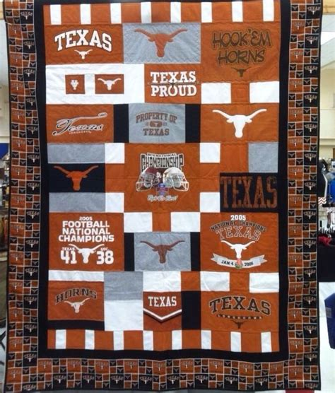 t shirt quilt pattern twin texas longhorn t shirt quilt twin size one of a kind